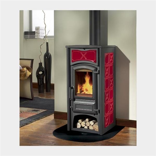 kaminofen la nordica fiorella bordeaux pergamena mitzner energie. Black Bedroom Furniture Sets. Home Design Ideas